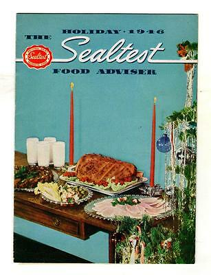 THE SEALTEST FOOD ADVISOR, HOLIDAY 1946 Issue RECIPES Dairy Products Milk Etc.