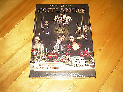 Complete Second Season 2 Two Sealed NEW OUTLANDER (DVD, 2016, 5-Discs)