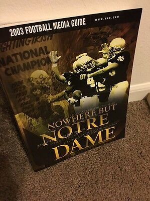 """notre Dame""2003 Football Media Guide"