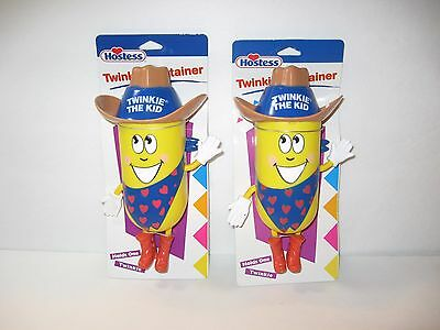 New 2 Pack Hostess Twinkie Container Holds One Twinkie Each Cute Collectible