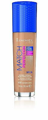 Rimmel Foundation Match Perfection Natural Beige 400 SPF 20