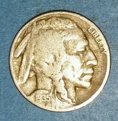 Circulated 1935 Philadelphia Mint Buffalo Nickel  ID #52-18