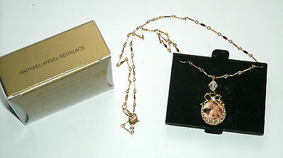 Collectible Vintage Avon Raphael Angel Sterling Silver Necklace
