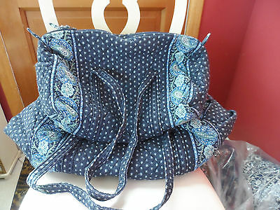 Vera bradley Large and small duffel bag travel set in Seaport Navy pattern