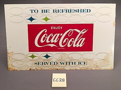 1959 Vintage To Be Refreshed Serve w Ice Enjoy Coca Cola Coke Metal sign CC28