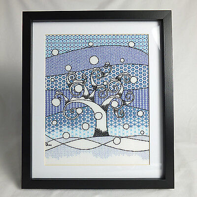 Winter Blackwork Embroidery Kit