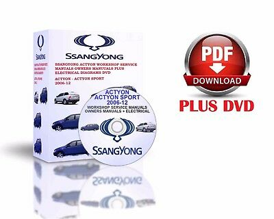 Ssangyong Actyon Actyon Sport 2006-12 Workshop Service Manuals Pdf Dvd