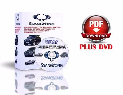 Ssangyong Korando 1997-2013 Workshop Service Manuals Owners Manuals Dvd