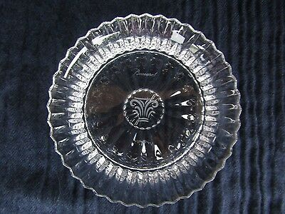 """Baccarat Mille Nuits Clear Wine Decanter Stand Nut Bowl Crystal 5""""  France Mint!"""