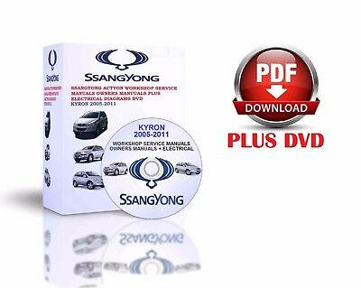Ssangyong Kyron 2005-2011 Workshop Service Manuals Owners Manuals Dvd
