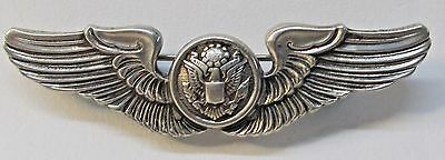 WWII Army Air Force aviation CREW WINGS Sterling Silver made by Meyer 3""