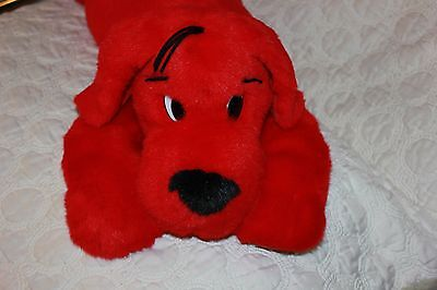 """1997 SCHOLASTIC 21"""" Plush CLIFFORD THE BIG RED DOG Large Stuffed Laying Puppy"""