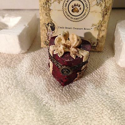BOYDS BEAR VALENTINO'S CANDY BOX W/BONBON McNIBBLE TREASURE BOX
