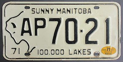1971 Sunny Manitoba 100,000 Lakes License Plate AP70-21