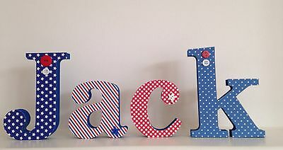 Boys Handmade Personalised Wooden Name/letters, Childrens Bedroom, Baby Gift