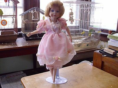"Another of Allison's China (Porcelain) Dolls,16"", With Stand, Dancing Girl,Good!"