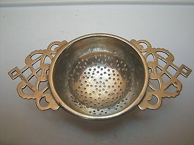 Vintage Silverplated Over the Cup Tea Strainer