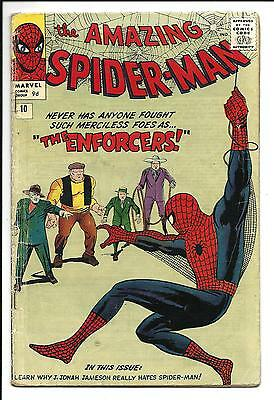 Amazing Spider-Man # 10 (1St App. Big Man & The Enforcers, Mar 1964), Vg
