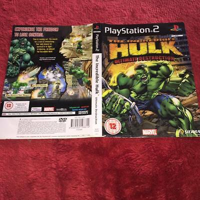 Artwork For the incredible hulk ultimate destruction ps2  NO GAME DISC INCLUDED