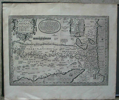 1609 or 1612 ANCIENT MAP OF EGYPT by Abraham Ortelius - XYZ