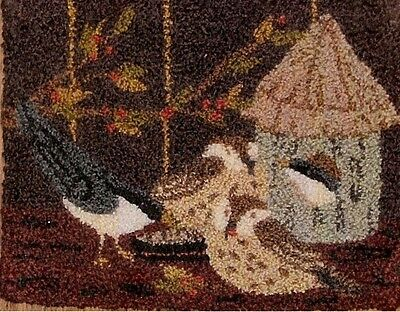 "Punchneedle Pattern by Crane Design ""Feeding Frenzy"" (5 3/4"" x 4"")"