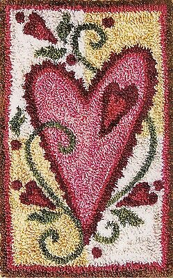 "Punchneedle Pattern by Jeri Kelly ""Heart""  (3"" x 5"")"