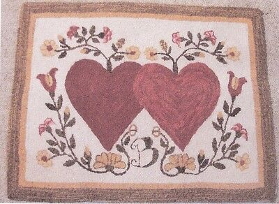 "Punchneedle Pattern by The Old Tattered Flag  ""Hearts Entwined"""
