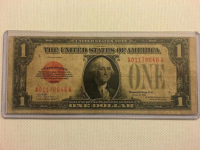 1928 $1 One Dollar United States Note Red Seal
