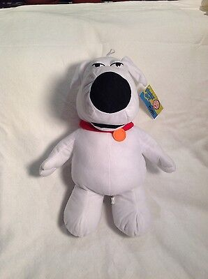 """Family Guy 15"""" Brian Plush Toy Figure NEW WITH TAGS"""