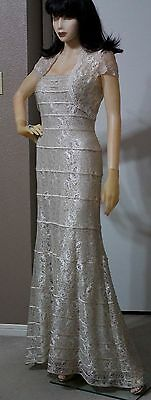 Mother Of the Bride Wedding Formal  Mermaid Lace Champagne Gold Bolero Gown  6