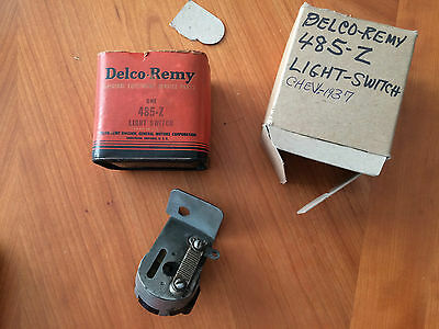 NOS Delco Headlight Switch - 1935 thru 37 Chevrolet - GM 485Z