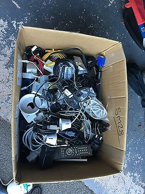 Massive Job Lot Of Electric Cables, lights, switches (in excess of 100 Items)