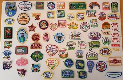 Huge Lot of 391 Girl Scout Fun Patches and Badges