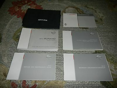 2012 Nissan Murano Owners Manual Set + Free Shipping