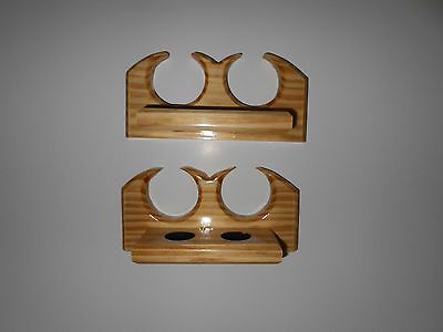 Cue Rack Pool Stick Holder Billiards Wall Mounted Holds 4Cues