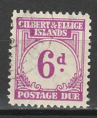 Gilbert & Ellice 1940 Postage Due 6D Used