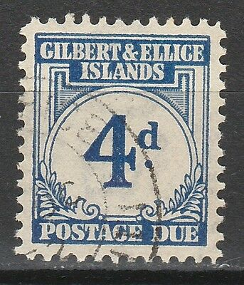 Gilbert & Ellice 1940 Postage Due 4D Used