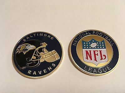 Nfl Baltimore Ravens Sport American Football Collectable Challenge Coin New