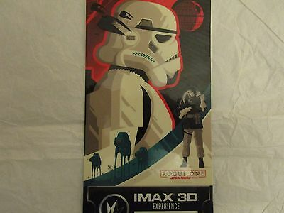Star Wars Rogue One Collectible Ticket Regal Imax 3D Experience Week 3 Used