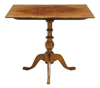 19Th Century Alder Root Tilt Top Square Table