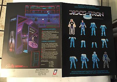 Factory Original 1983 Bally Midway Disc Of Tron Promo Flyer Mint