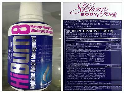SBC HiBurn8 474ml Bottle Weightloss Night solution All Natural Ingredients