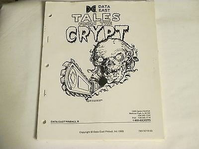 1993 Data East Tales From The Crypt Pinball Manual W/flyer