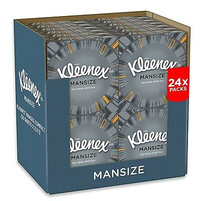 Kleenex Mansize Tissues Compact Pack - 24 Box Pack (1200 Tissues Total)