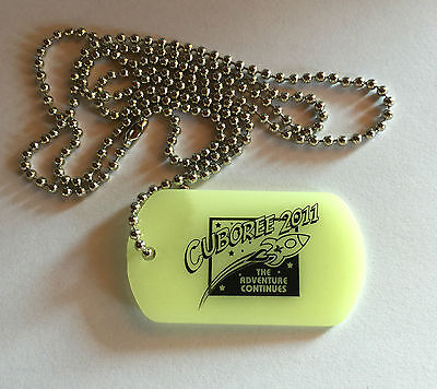 Scouts Australia - Cuboree 2011 - Glow in the Dark Dog Tag