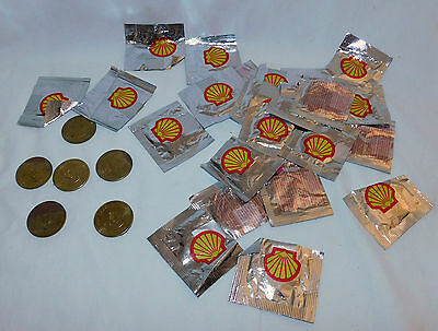 Lot of 29 Collectible Shell Oil Presidential Coin Game Tokens, 1992