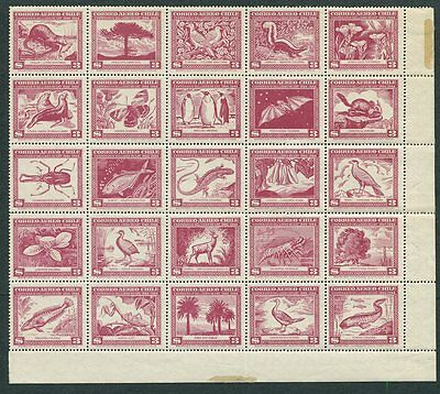 Chile C124 Mint NH 1948 Flora and Fauna. SEE DESCRIPTION.