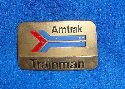 Vintage Amtrak Trainman Metal Badge