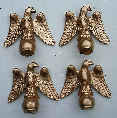4 Metal mantle clock finials-Eagle .Clock parts.Metal furniture decorations