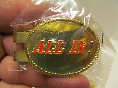 "Lot Of 50 Casino Money Clip Bulk Wholesale ~ ""all In"" Gold & Silver Mix"